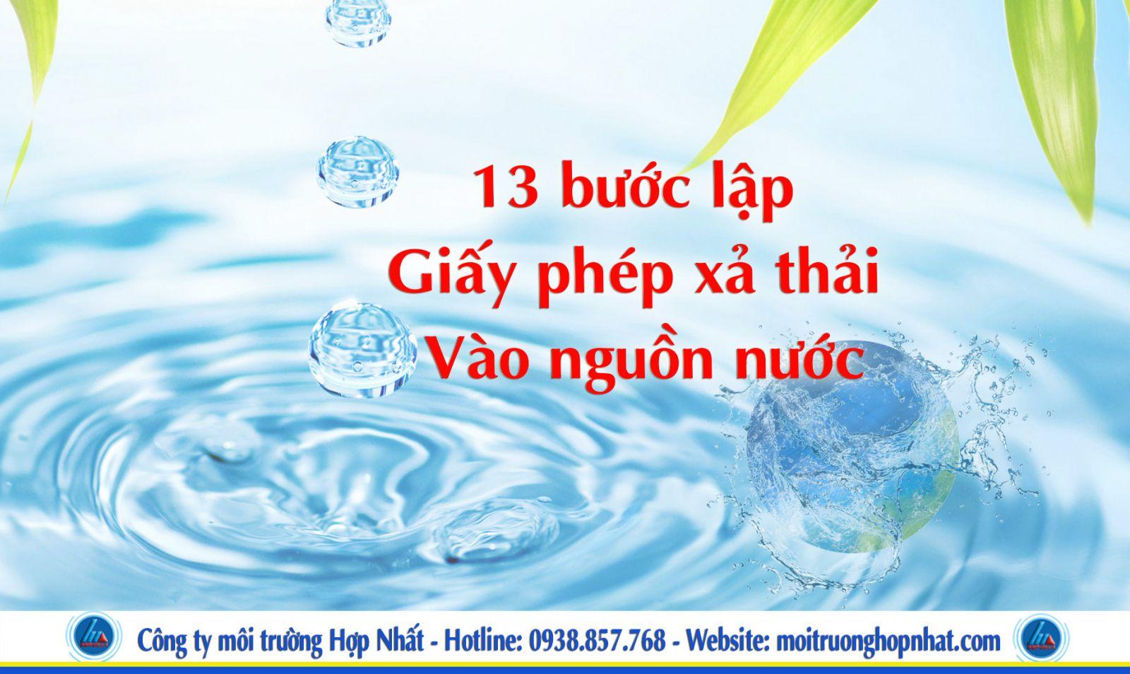 13 bước lập giấy phép xả nước thải vào nguồn nước