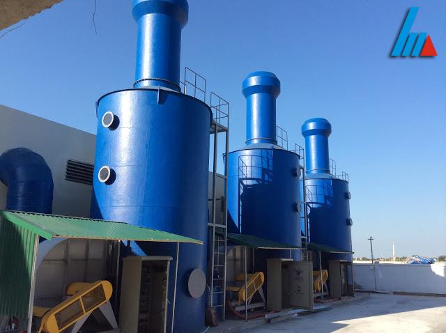 Xử lý khí thải của công ty Vật liệu mỹ thuật Phượng Hoàng