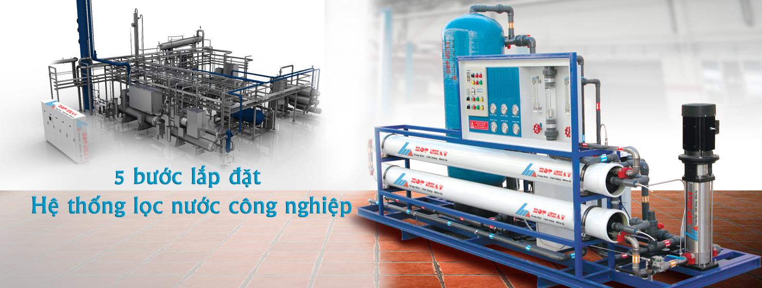 5 bước lắp đặt hệ thống lọc nước công nghiệp