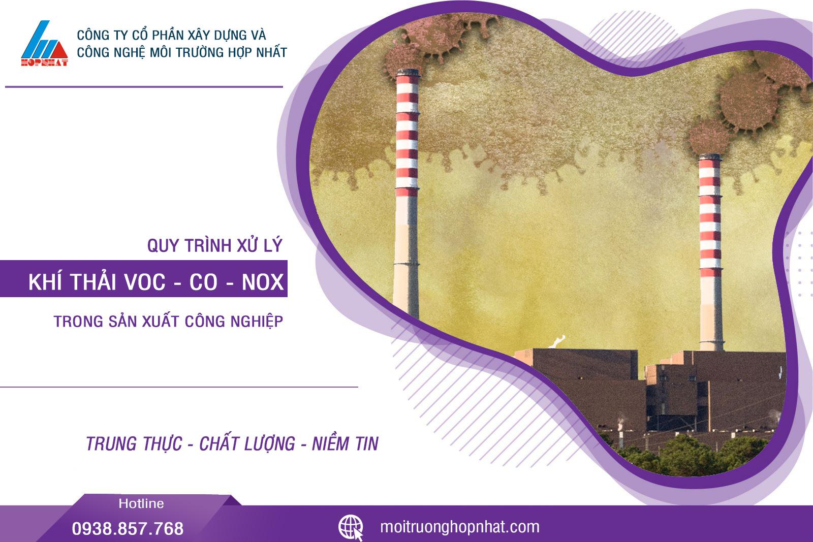 Cách xử lý VOC, CO, NOx trong khí thải công nghiệp