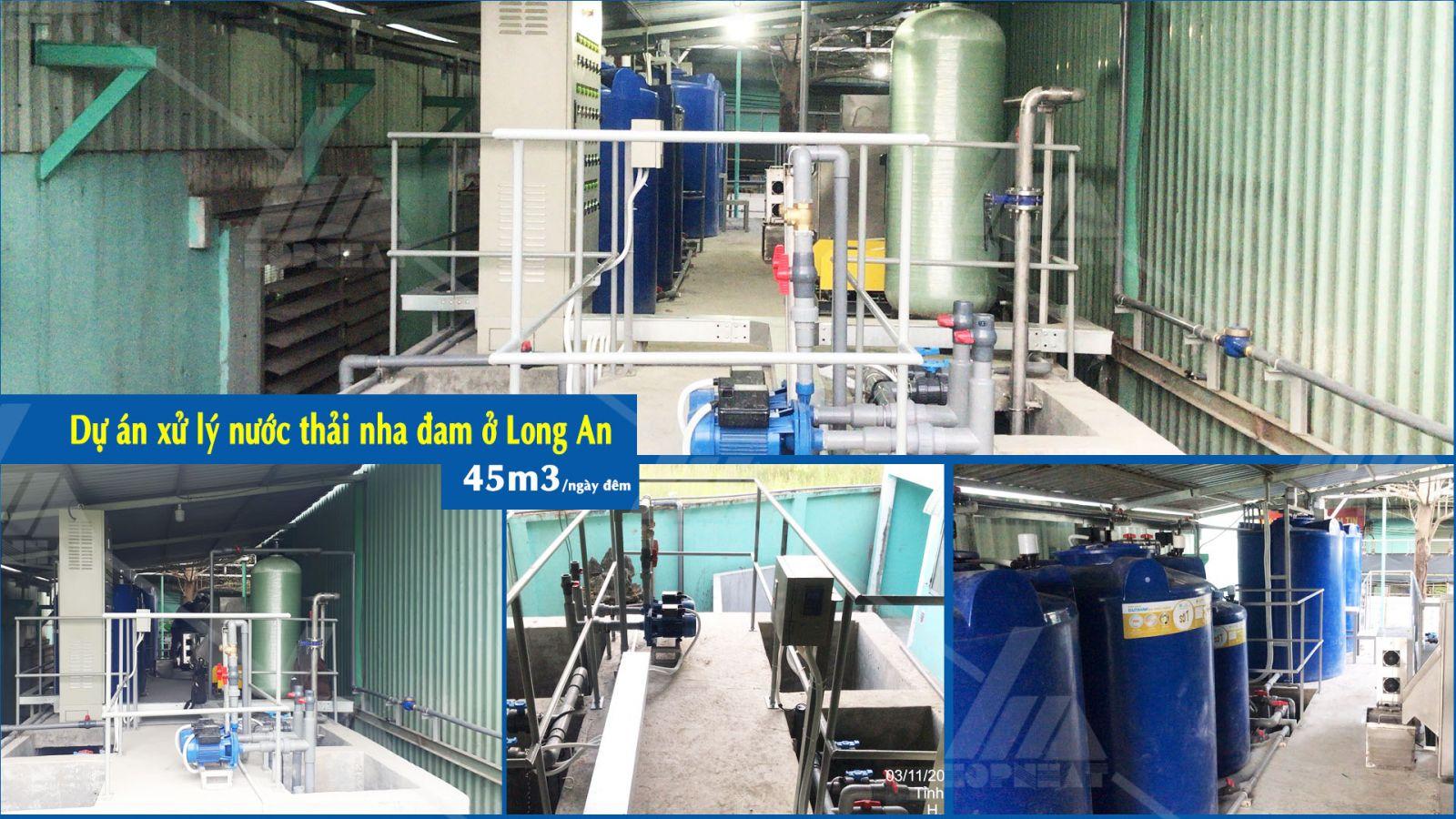 Dự án xử lý nước thải nha đam ở Long An