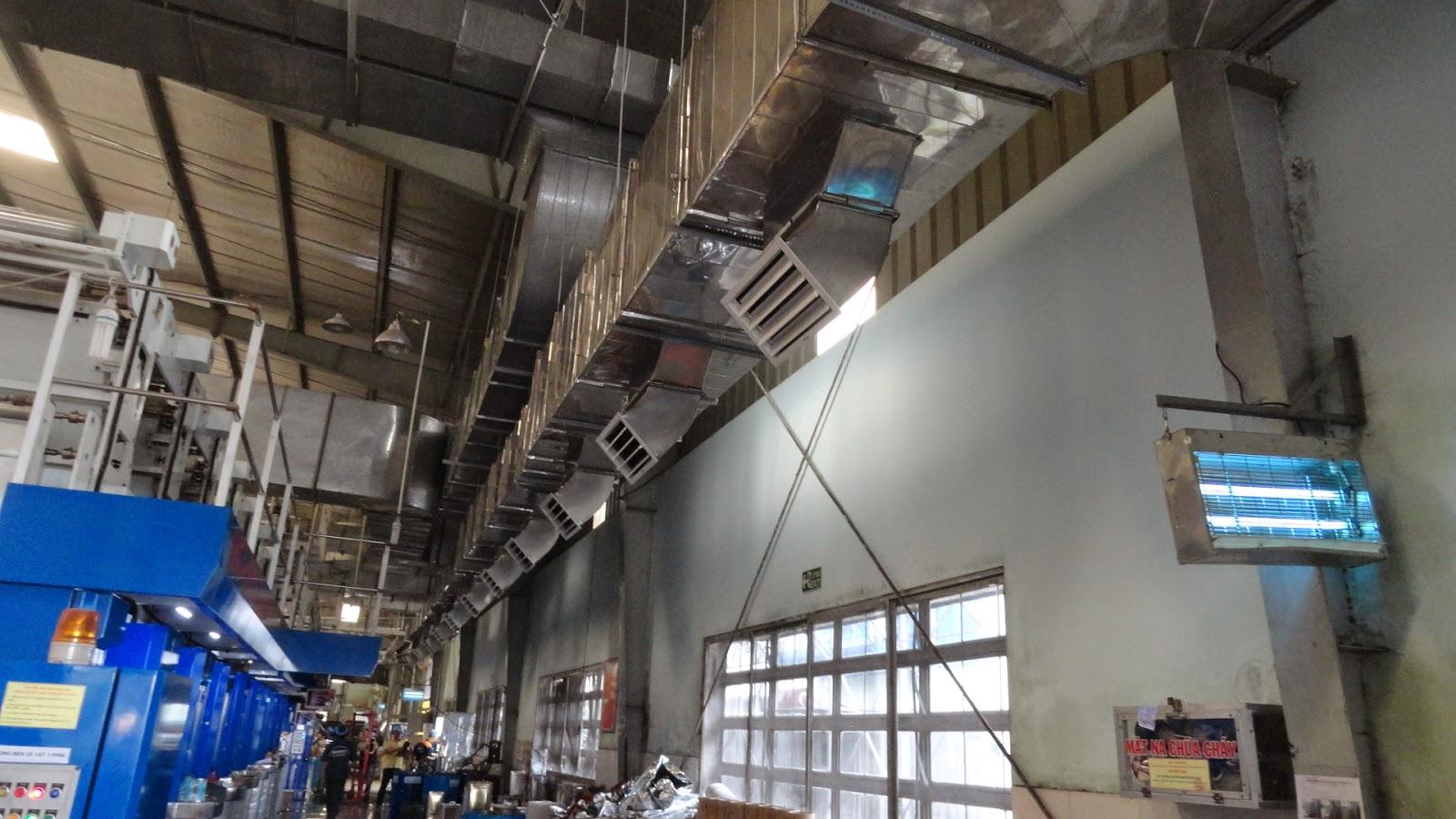 thông gió nhà xưởng Cty TNHH Bao bì nhựa Tín Thành
