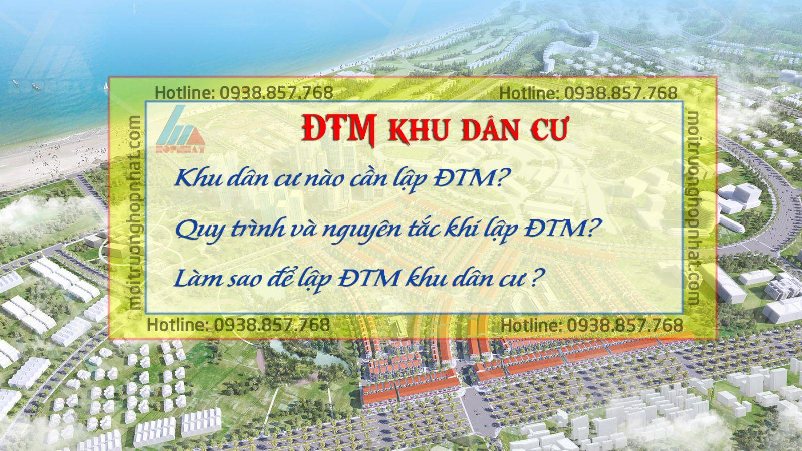 Lập ĐTM - Đánh giá tác động môi trường khu dân cư