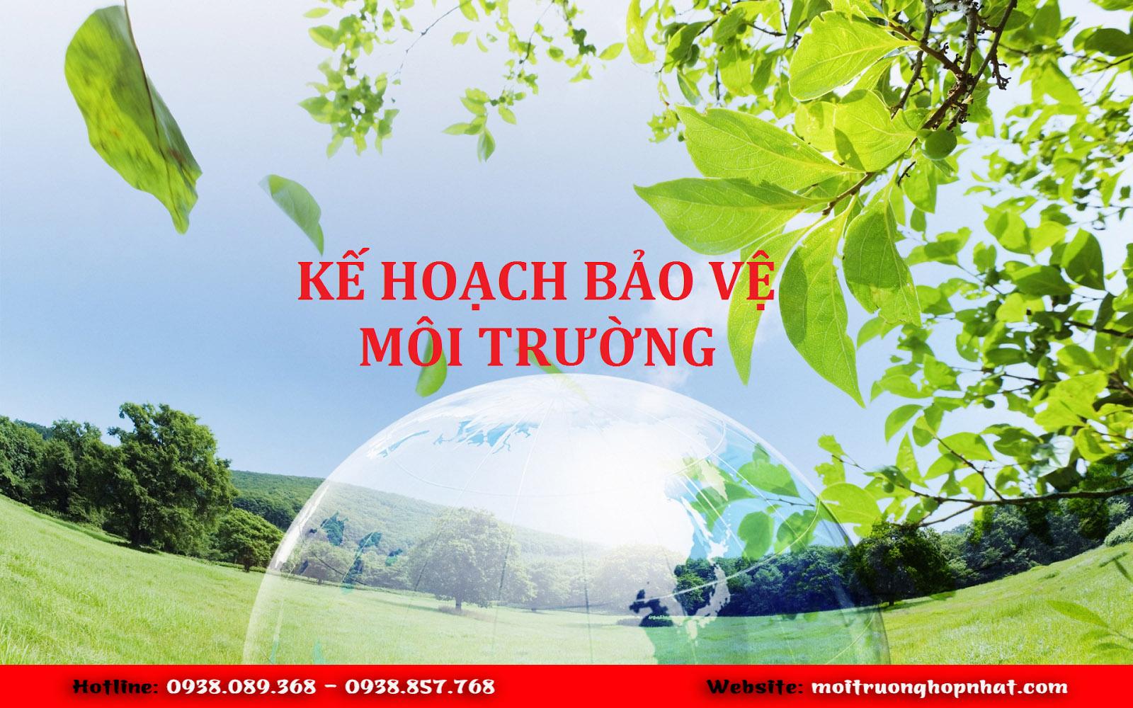 Tư vấn, lập kế hoạch bảo vệ môi trường