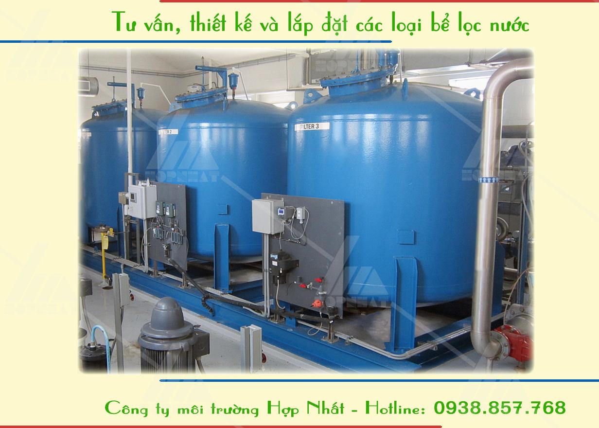 Một số loại bể lọc nước thông dụng