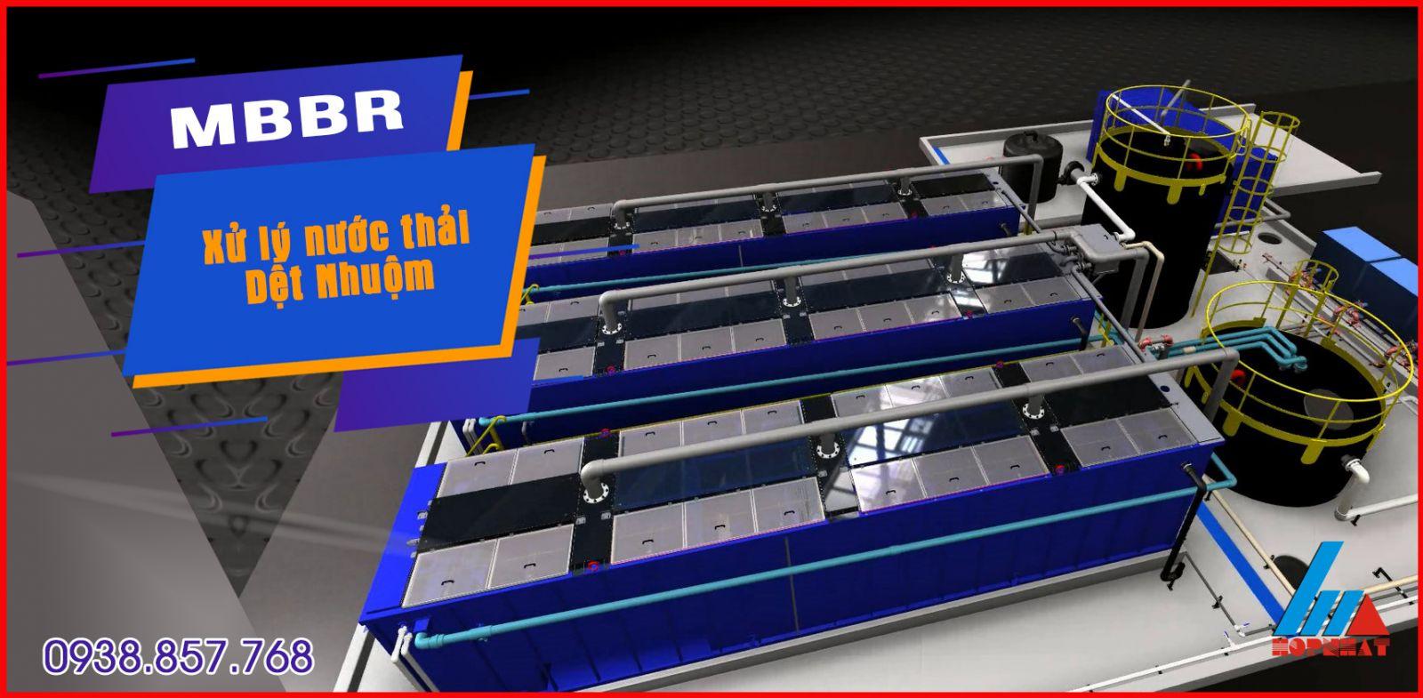 MBBR xử lý nước thải dệt nhuộm
