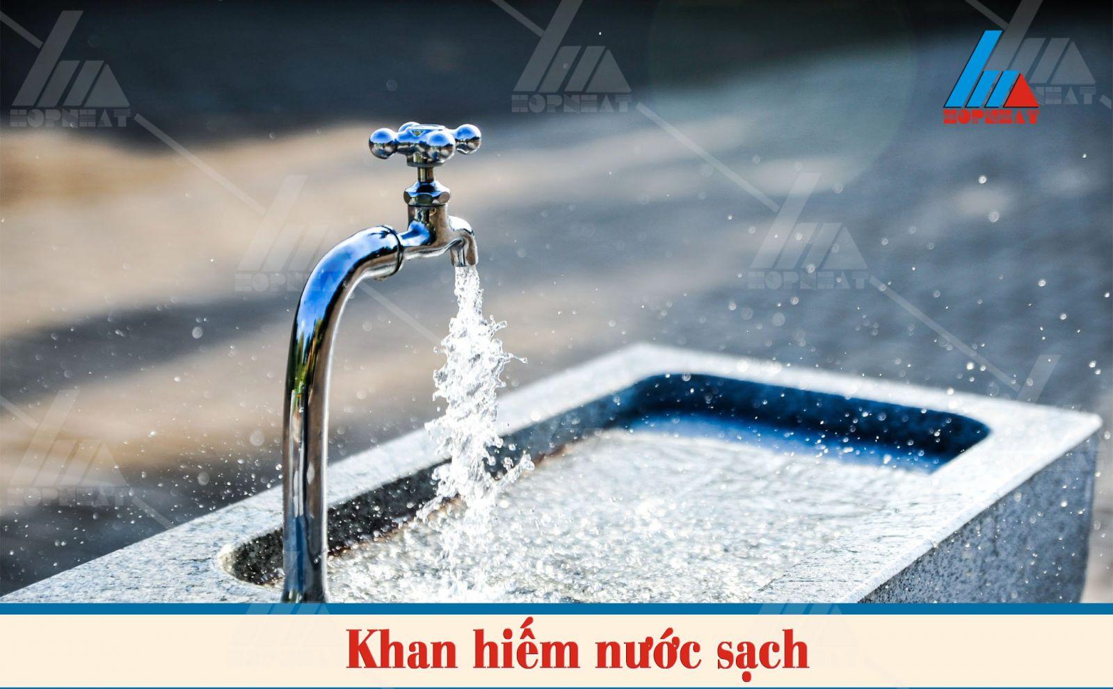 Nước sạch trên thế giới đang khan hiếm
