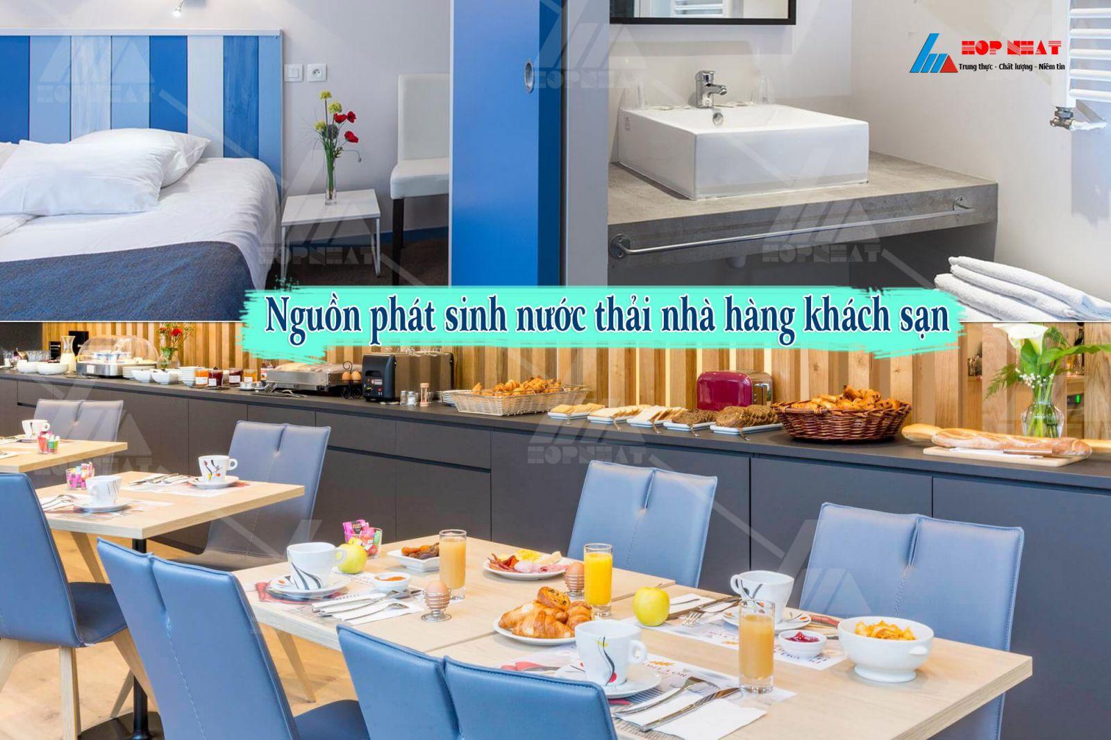 Nhà hàng khách sạn và vấn đề xử lý nước thải