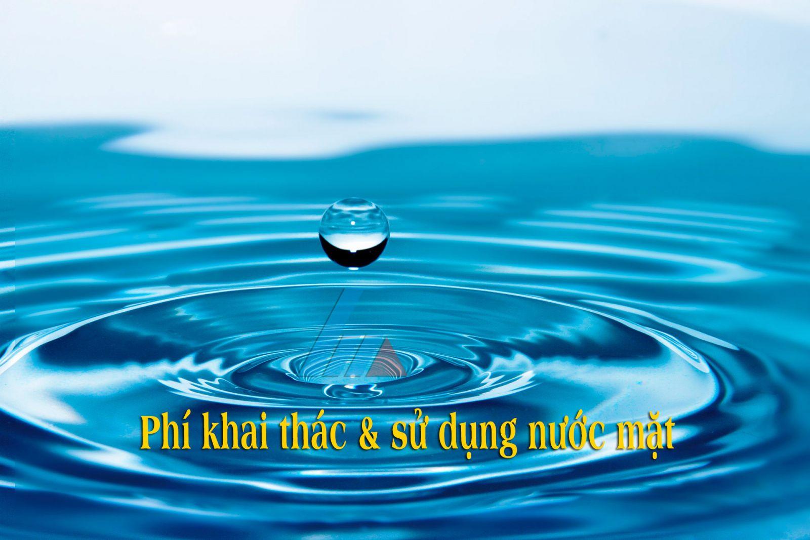Phí khai thác nước mặt