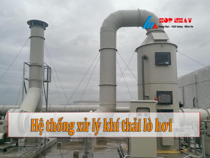 Quy trình của hệ thống xử lý khí thải lò hơi đốt than củi
