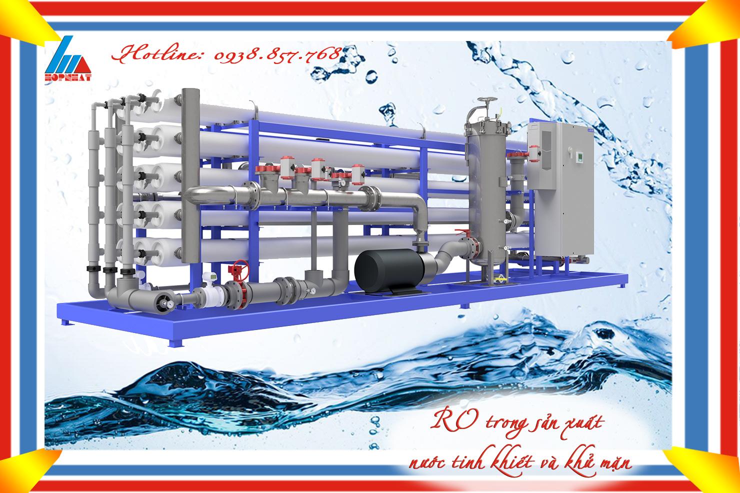 RO trong sản xuất nước tinh khiết và khử mặn