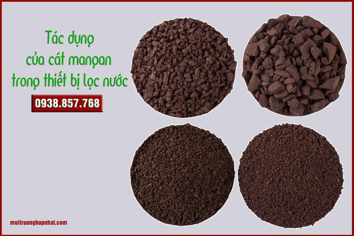 Tác dụng của cát mangan trong thiết bị lọc nước