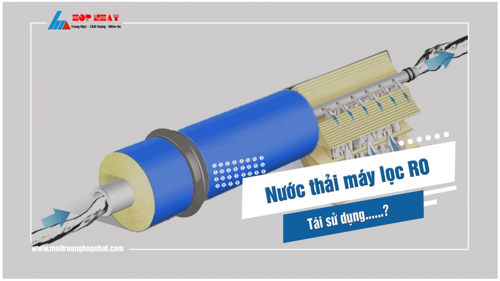 Tái sử dụng nước thải máy lọc nước RO