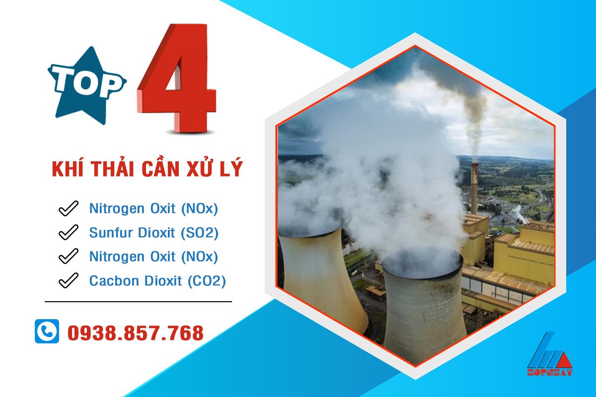 Top 4 khí thải công nghiệp cần xử lý