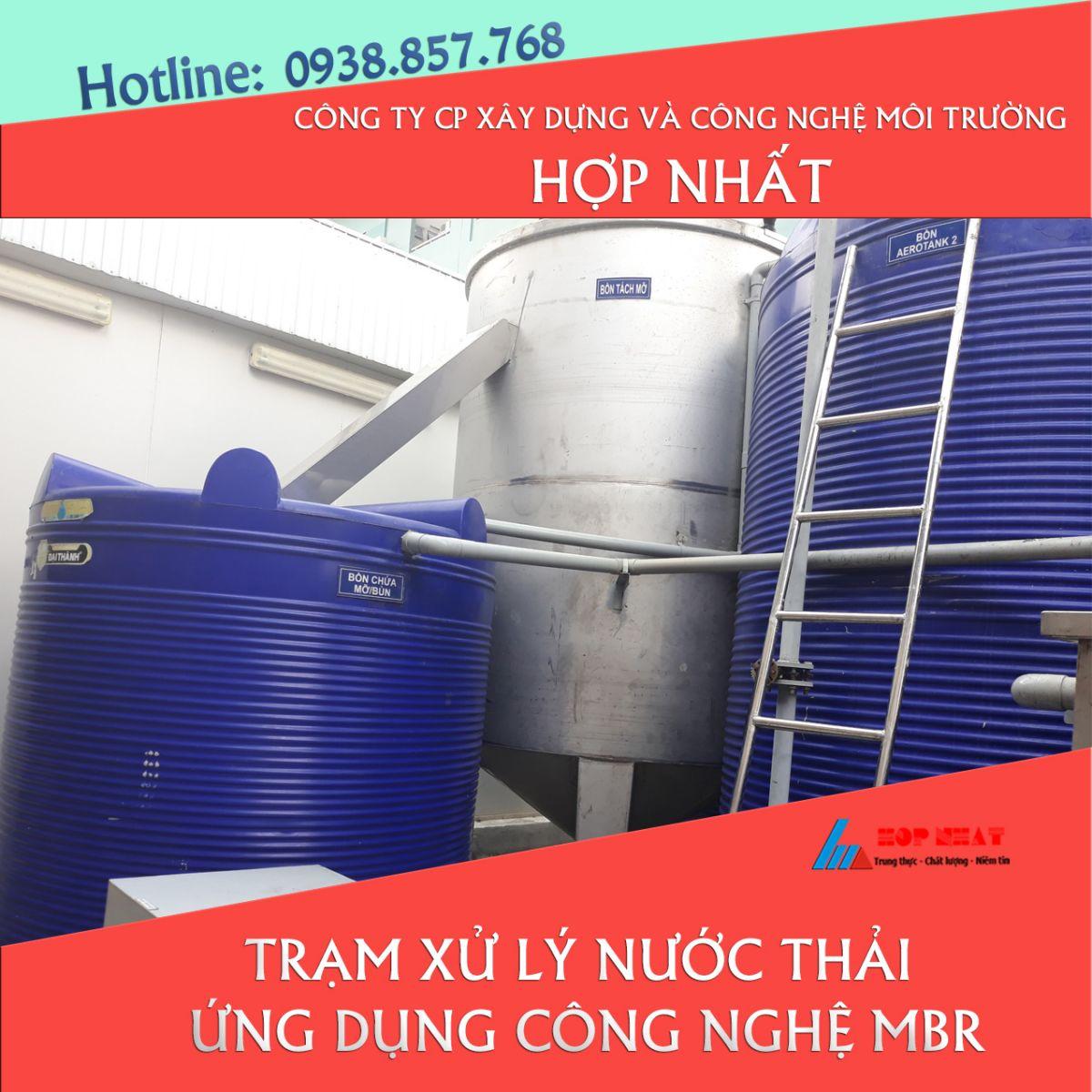 Trạm xử lý nước thải ứng dụng công nghệ MBR