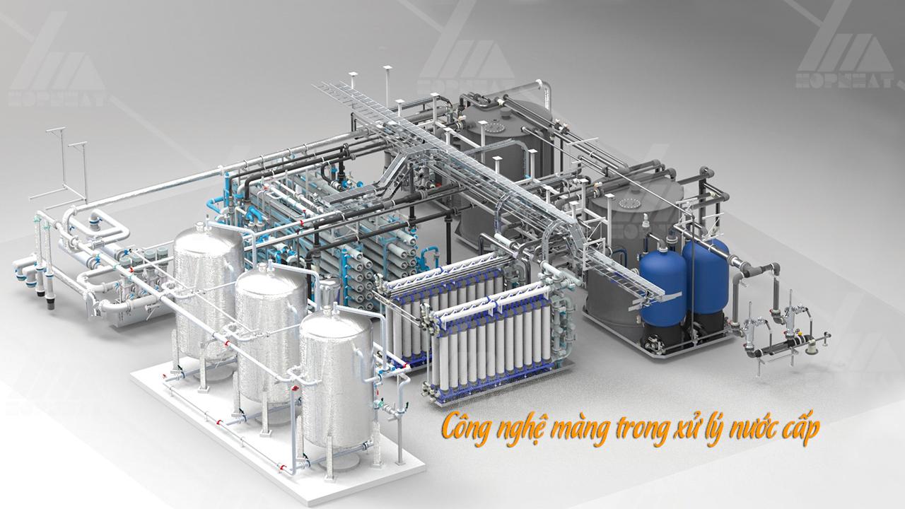 Ứng dụng công nghệ màng xử lý nước cấp