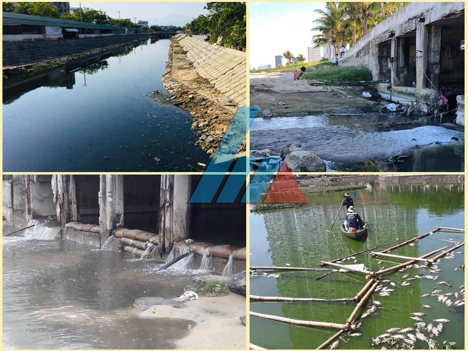 Nước thải ô nhiễm tại Đà Nẵng